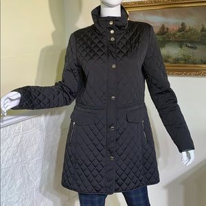 Massimo Dutti Classic Quilted Car Length Coat
